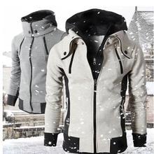 Мужская тонкая теплая куртка с капюшоном, пальто с капюшоном, верхняя одежда, флисовая куртка