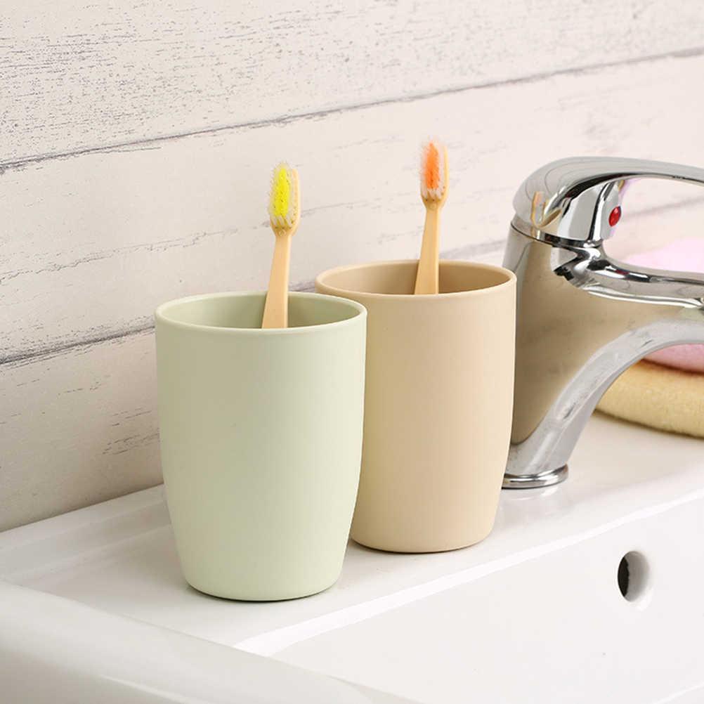 和風環境にやさしい厚手の円形カップ歯ブラシホルダーカップ PP すすぎカップ洗浄歯のマグカップ浴室セット 1 ピース