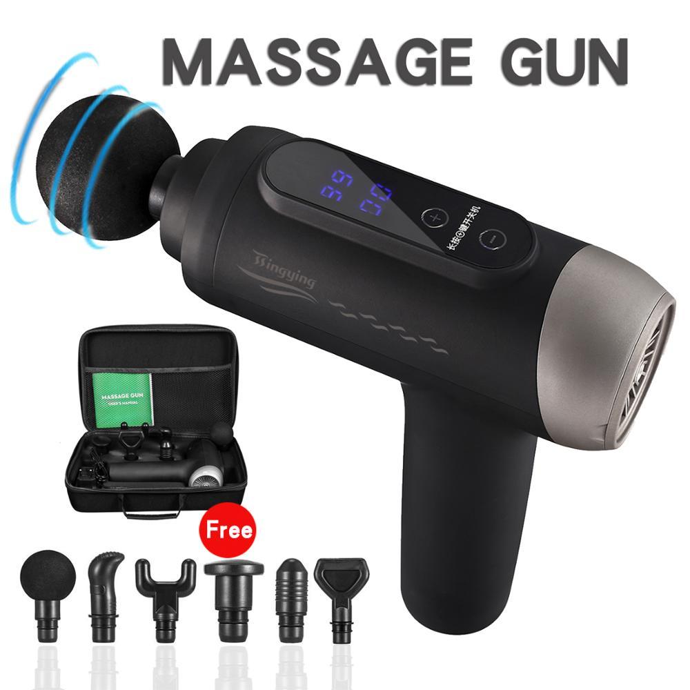 Massage Gun Muscle Relaxation Massager Vibration Fascial Gun Fitness Equipment Noise Reduction Design For Male Female