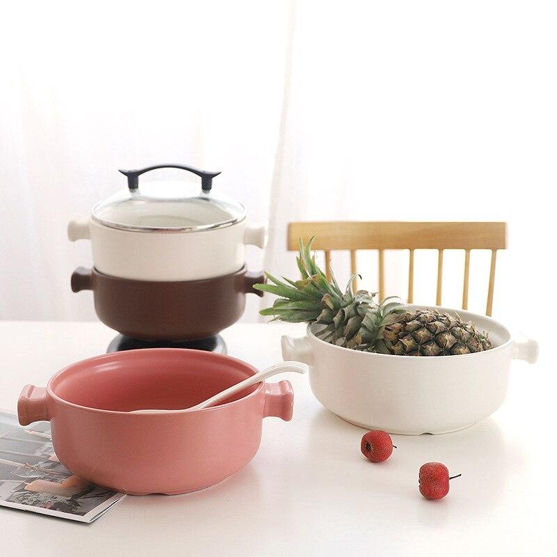 Ceramic Soup Pot Milk Pot Casserole Stew Pot Soup Porridge Household Ceramic High Temperature Fire Gas earthenware Stock Pots