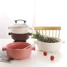 цена на Ceramic Soup Pot Milk Pot Casserole Stew Pot Soup Porridge Household Ceramic High Temperature Fire Gas earthenware Stock Pots