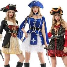Cướp Biển Halloween Có Nón Trang Phục Nữ Nữ Áo Nam Giới Trưởng Thành Thuyền Trưởng Jack Sparrow Trang Phục Cướp Biển Cosplay