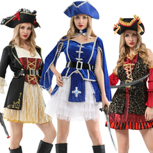 Halloween pirate with hat costumes for women female men adult male captain jack sparrow costume pirates of the caribbean cosplay