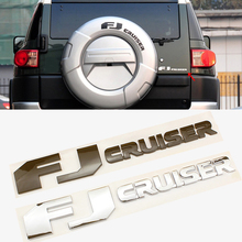 цена на ABS Trunk Emblem for Toyota FJ Cruiser TRD Sport Off Road 3d Tail Rear Letter Badge Chrome Decal Auto Exterior Modification