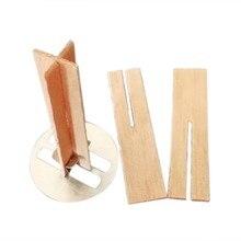Mecha de vela central de madera hecha a mano, con pestaña de soporte, vela, centro de mecha, cera de soja para la fabricación de velas, suministros, 10 Uds.