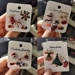 3 шт./компл. рождественские броши носки дерево Лось эмали штырь небольшой значок для изготовления сумок с лацканами для женщин модные вечерние ювелирные изделия