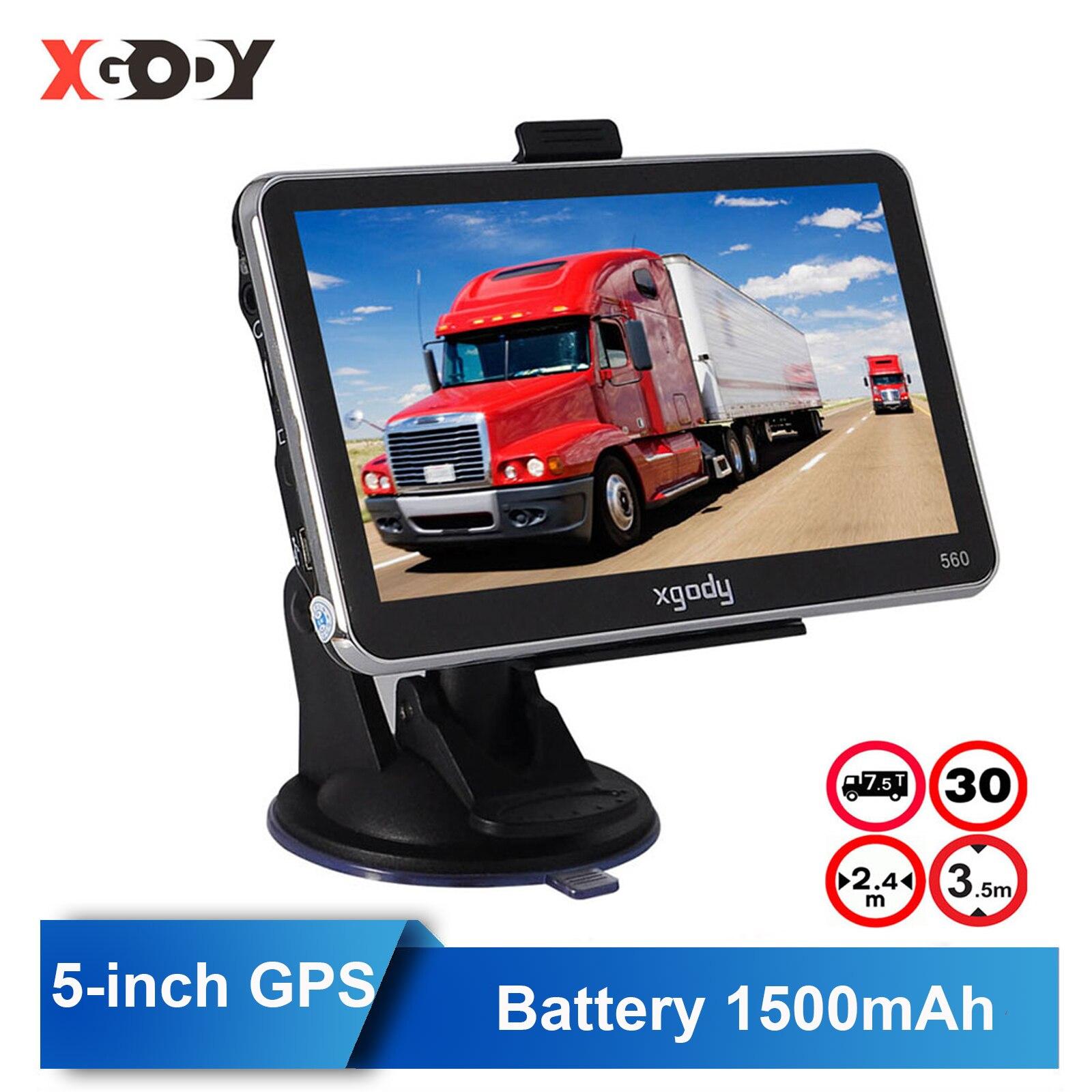 XGODY 560 5 дюймов GPS навигация грузовик GPS автомобильный навигатор русский Navitel 128 м + 8 Гб автомобиля Кепка-тракер стерео система со спутниковой н...