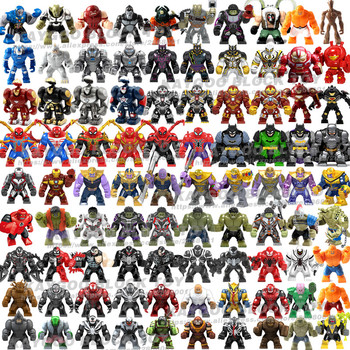 Large Big Figures Building Block Super Hero Thanos Hulk Iron Spider man Hulk Batman Black Panther Croc Bane Venom Toys For Kids