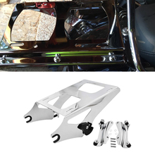 For Harley Touring 2014 2019 Chrome Two Up Tour Pack Luggage Rack Detachable & Docking Hardware Kit Fit Road King