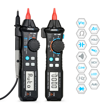 Digital Multimeter 6000 Counts Pen Type with Non Contact ACV/DCV Electric Handheld Capacitance Tester Fire wire Like RM113D peakmeter ms8211 digital multimeter with probe acv dcv electric handheld tester multitester digital pen type multimeter