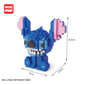 Image 2 - Wise Hawk Building Blocks Stitch Anime Kawaii Cartoon Micro  Mini Bricks DIY Model  Kit Educational Toys For Kids