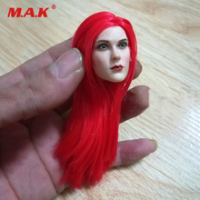 1/6 Scale Female Head Sculpt  Sonja Red Hair Model Toy Fit 12 pale PH Doll Toys