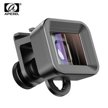 APEXEL 1.33x Anamorphic Lens with Universal C Mount Clip Widescreen Camera lens VlogMovie Shooting Deformation Mobile Phone Lens