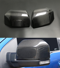 Real Carbon Fiber For Ford F150 F 150 Raptor 2015 2020 Truck Mirror Cover Skull Cap Car Side Wing Rearview Mirror Cover Add On