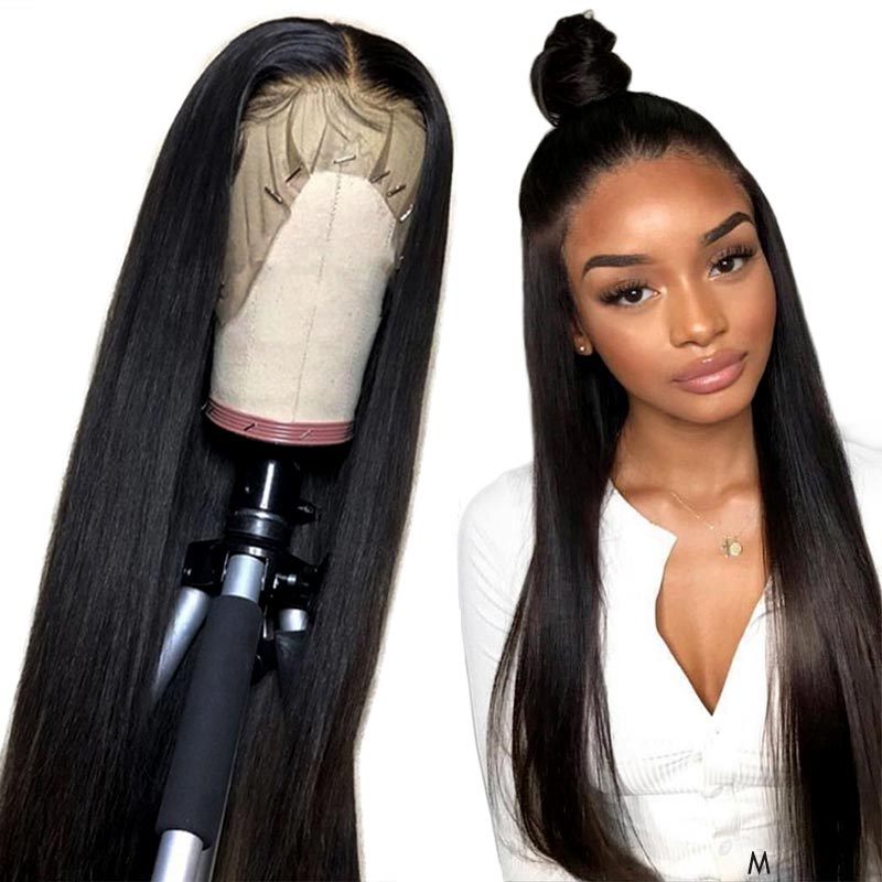 13x4 Lace Front Wigs Brazilian Hair Remy Straight Real Human Hair Toppers For Black Women With Baby Hair My First Wig 150%