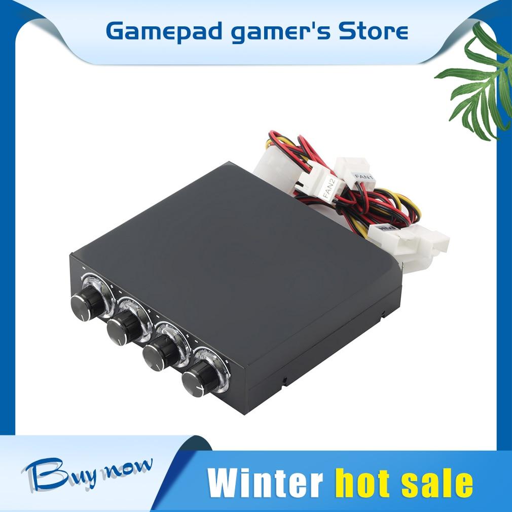 3,5-дюймовый контроллер скорости вентилятора ПК жесткий диск процессор 4-канальный контроллер скорости вентилятора светодиодная охлаждающа...