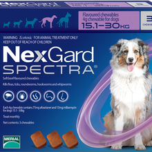 NexGard Spectra For 15-30kg Pet Oral Trentment For Dog By MERIAL