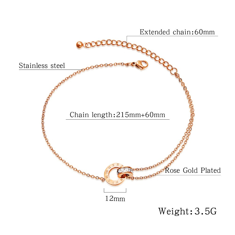 Stainless-Steel-Round-CZ-Anklets-For-Women-Charm-Rose-Gold-Ladies-girl-summer-Foot-Jewelry-Gift (4)