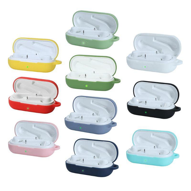 Pour huawei flypods 3i bluetooth earpods étui Silicone avec crochet en métal antichoc écouteurs peau protection écouteurs couverture
