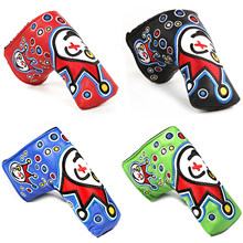 Neue Golf putter clown joker abdeckung Klinge Putter Headcover cameron Johnny jackpot klinge putter scotty headcovers(China)