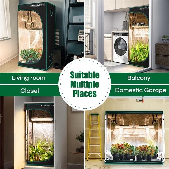 120x120x200cm Grow Tent 1680D reflective mylar Greenhouse plant Non-toxic room 6