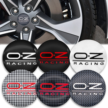 OUIO 4Pcs 56mm Auto Emblem Wheel Center Hub Caps Cover Sticker For OZ Racing Logo Styling Accessories Decoration Decal Exterior