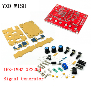 1HZ-1MHZ XR2206 Function Signal Generator With Case Sine/Triangle/Square Signal Generator Adjustable Frequency Amplitude Diy Kit(China)