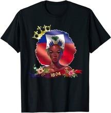 Haití reina Haití la independencia bandera 1804 camiseta divertido regalo Vintage para hombres