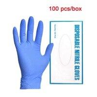 100 stücke Einweg Lebensmittel Handschuhe Nitrito Reinigung Handschuhe Universal Garten Reinigung Handschuhe Nitril Labor Nail art Anti Statische-in Schutzhandschuhe aus Sicherheit und Schutz bei