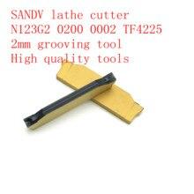 2.0mm SANDV high quality lathe tool N123G2 0200 0002 TF4225 carbide tool, grooving CNC