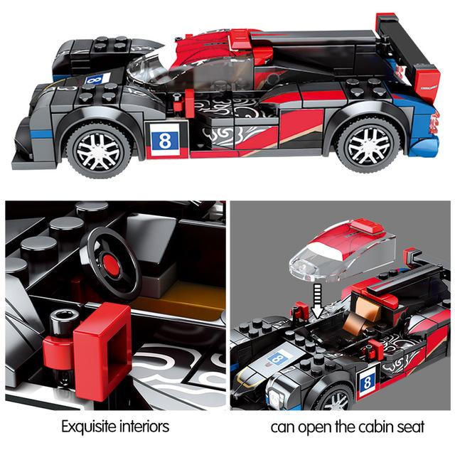 City Pull Back Mechanical Super Sports Vehicle Bricks 1:32 MOC Model Technic Legend Team Building Blocks Racing Car Toys For Boy
