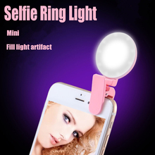 Selfie Ring Light Plug and Play Weight Led USB Chargeable for iPhone Android Cell Phone 3 Level Brightness