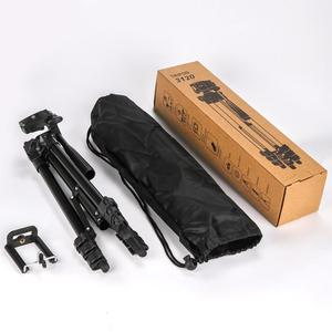 Image 5 - שחור ארבעה רצפת גבוהה מקצועי אלומיניום חצובה Stand מחזיק + טלפון מחזיק + ניילון לשאת תיק עבור iPhone X 8 סמסונג
