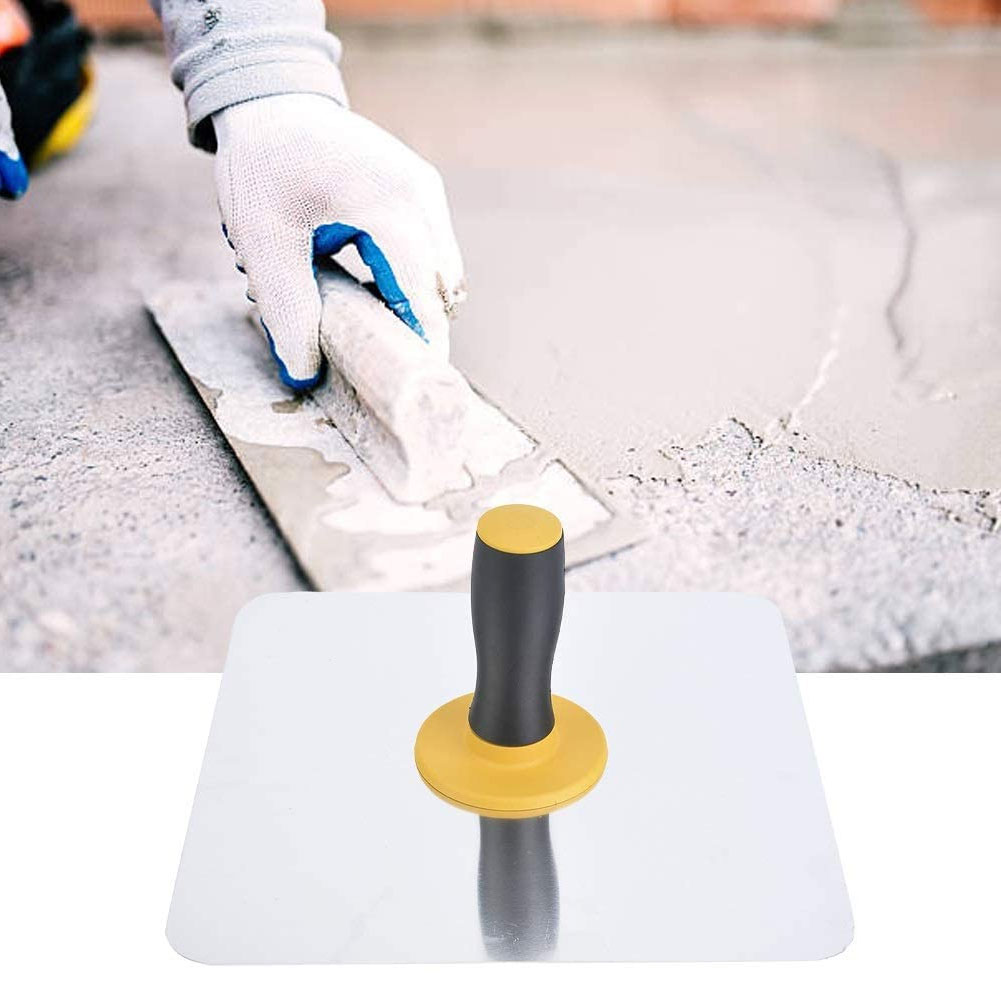 Plaster Hawk Aluminium Heavy Duty Plastering Tool with TPE Handle for Cement Mortar Drywall Concrete Finishing