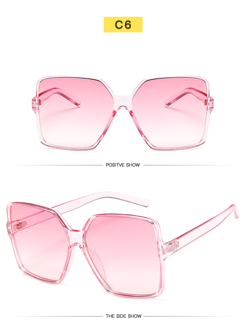 He15486868a594674938799dbc536d245h - Oversized Sunglasses Women Vintage Brand Sun Glasses Shades UV400 Big Frames Sunglass Female  Male Retro Eyewear Pink White