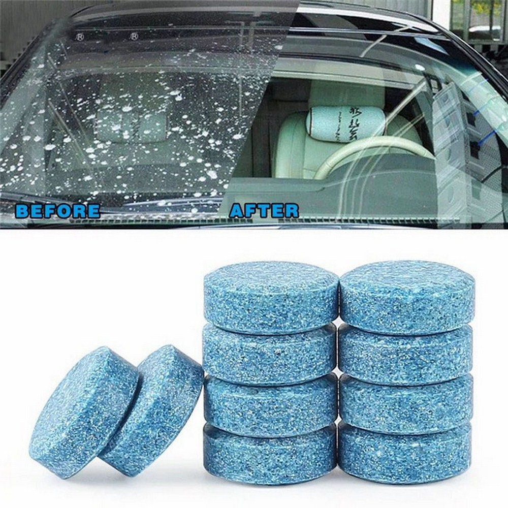 20pcs+3 Car Windshield Wiper Glass Washer Auto Solid Cleaner Compact Effervescent Tablets Window Repair Car Accessories