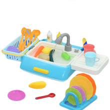 1 pcs Simulation Kitchen Toy Kit Electric Dishwasher Sink Pretend Play Kitchen Toy Set Children Kids Puzzle Early Education Toys baby simulation camera toy children cartoon projection light music toy kids early education puzzle supplies toys