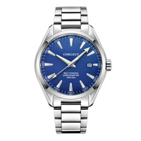 Corgeut 41mm masculino relógio branco dial data calendário automático miyota relógio de pulso de cristal safira mecânica masculino luxo marca superior|Relógios mecânicos|   -