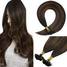 VeSunny Pre Bonded Keratin U tip Hair Extensions 100% Real Human Hair 1gr/strand 50gr