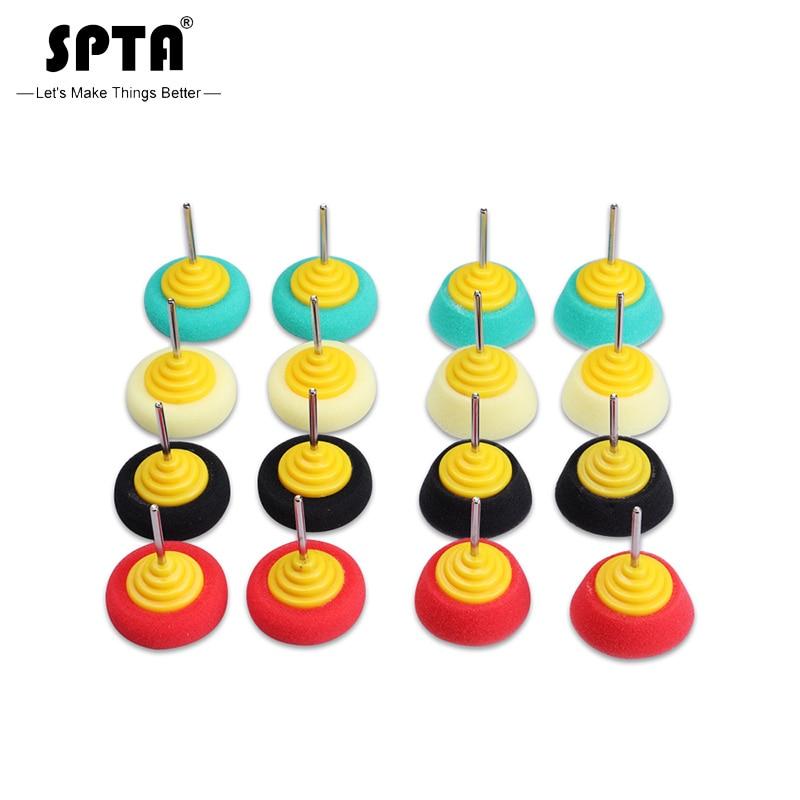 SPTA Mini Polishing Sponge 2 Inch Buffing Wheel For Car Hub Steel Rim Burnishing 4Pcs Pack Automobile Detailing Polishing Foam