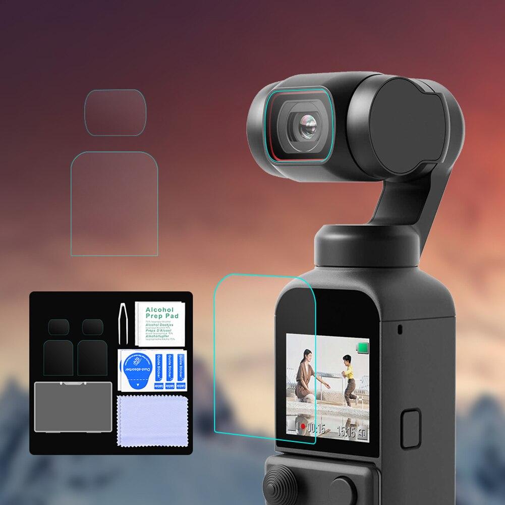 2 шт./компл. камеры объектив Защитная пленка для DJI карман 2 HD защитная пленка для экрана из закаленного стекла протектор водонепроницаемый м...