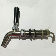 Polished Chrome  Beer Faucet  with 90mm long shank Household beer tap Forward Sealing Faucet. Home brew Kegging Beer Equipment