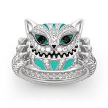 Роскошный Полный комплект из циркона модное кольцо с кошкой