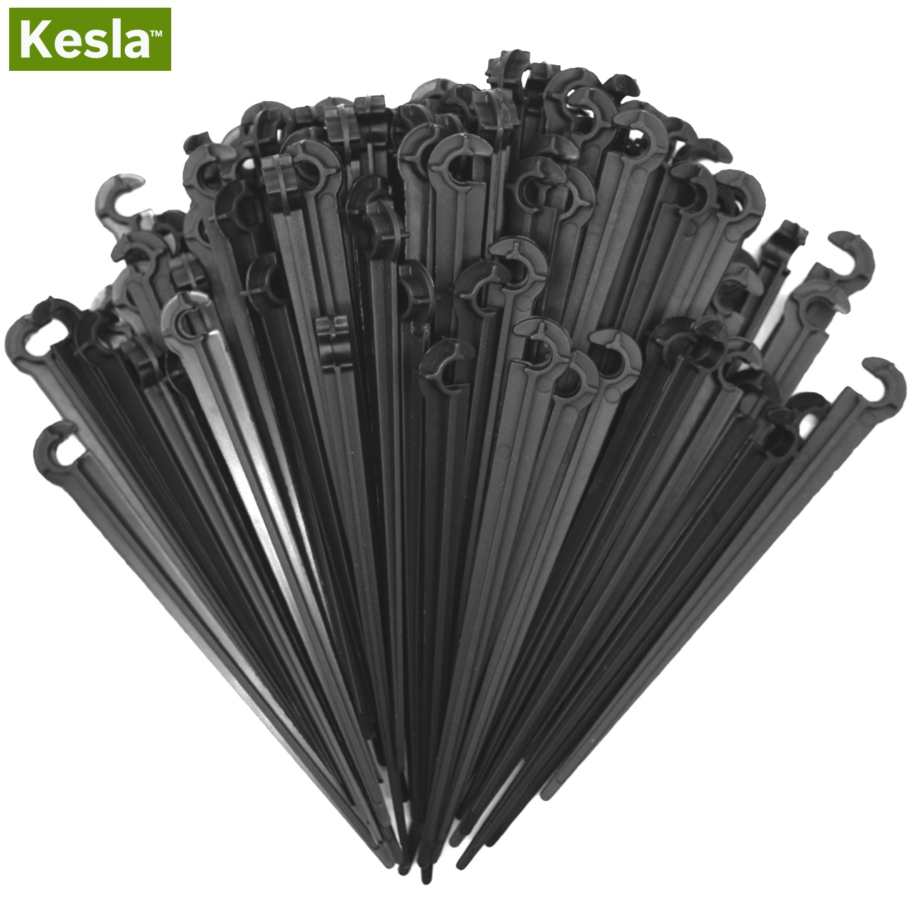 50pcs Plastic Hook Fixed Stem Stakes Used for 4//7 mm Drip Irrigation Tubing Pipe