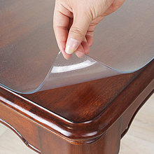 Soft Glass Protective Mat PVC Tablecloth Waterproof Transparent Table Protective Mat Coffee Table for Living Room Tablecloth