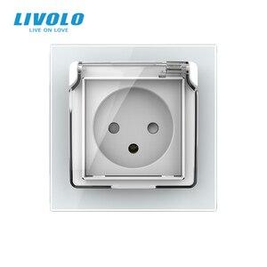 Image 5 - Livolo Israel Standard Steckdose, Kristall Glas Panel, 16A stecker mit Wasserdichte Abdeckung, 3pins stecker