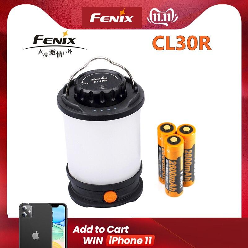 Fenix CL30R luce di Campeggio Max 650 Lumens Micro-USB ricaricabile Lanterna con 3 PCS 2600mAh 18650 Li-Ion Batteria