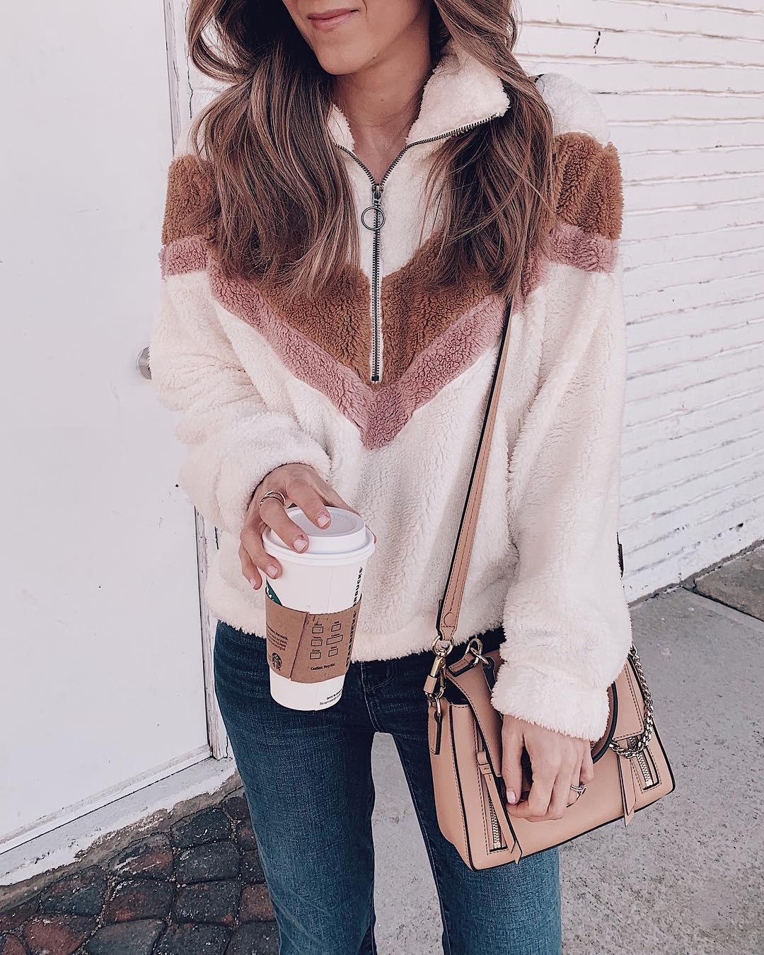 He15589825c554803b58b1c977b7cc23b5 New Style Women Warm Teddy Bear Fleece Pullover Coat Zip Outwear Overcoat Long Sleeve Jumper Top Pullover Winter Warm Soft Coat