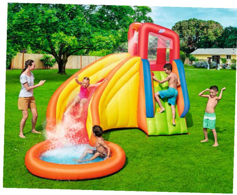 3.66x3.37m 3-4 Child Inflatable Water Pool Slide With Water Sprinker Outdoor Summer Fun Family Inflatable Water Park For Kids