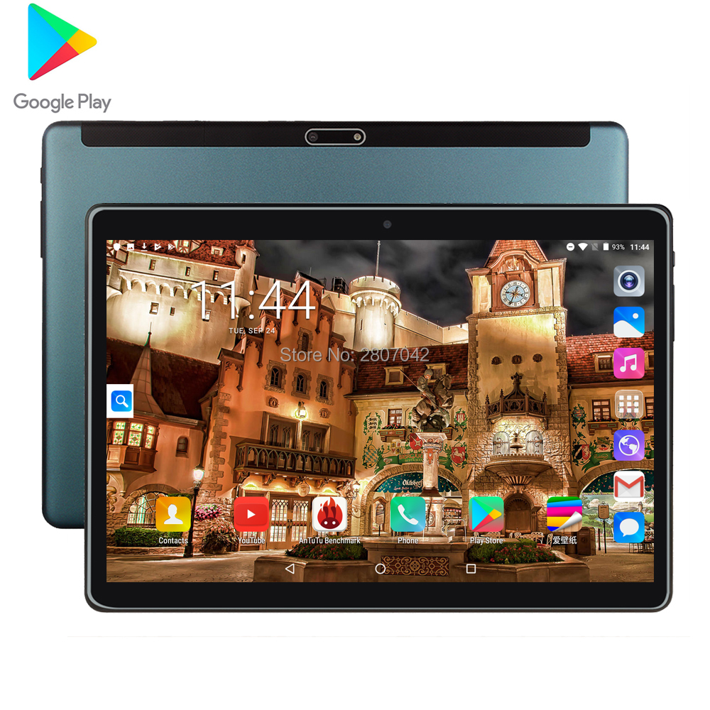 BOBARRY Sided Super Toughened Glass Screen Tablet 10 Inch IPS Android Tablet Supports Google Store 3G Phone SIM WiFi 32G